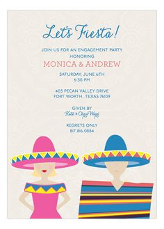 Fiesta Couple Invitation #Fiesta