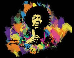 MUSIC ARTIST ILLUSTRATION PAINTING JIMI HENDRIX GUITAR HERO 18X24 POSTER ART PRINT LV10216 Continue To The Product At Image Link