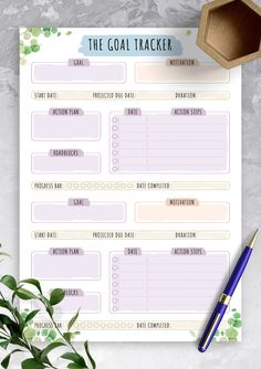Goals Printable, Schedule Printable, Weekly Planner Printable, Printables, Goals Template, Action Plan Template, Planner Template, Routine Planner, Goals Planner
