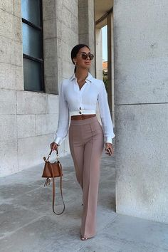 May 2020 - Victoria High Waisted Dress Pants - Taupe – Fashion Nova Business Casual Outfits, Professional Outfits, Business Attire, Cute Casual Outfits, Stylish Outfits, Office Outfits, Business Fashion, Summer Professional, Business Formal