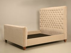 Custom Order Super Plush Tufted Head and Footboard King Size Bed. Chicago Made for a Chicago Star. Now available for all to have or customize even more….