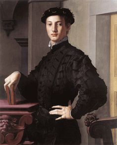 Portrait of a Young Man With a Book by Bronzino.