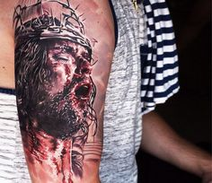 Jesus tattoo by Seunghyun Jo