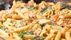 We turned Chicken Florentine into our new favorite pasta dinner. Easy Chicken Recipes, Pasta Recipes, Dinner Recipes, Cooking Recipes, Chicken Ideas, Spinach Recipes, Recipe Chicken, Dinner Ideas, Italian Dishes
