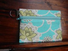 Keychain Wallet in Lotus by Amy Butler by stitch248 on Etsy, $12.00