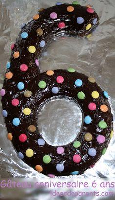 Gâteau anniversaire 6 ans bonbons