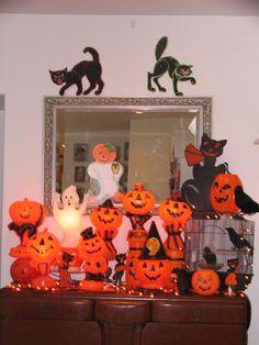 Vintage Halloween blow mold display 2013