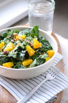 love kale! kale tahini salad