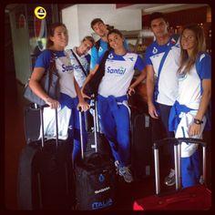 gli Azzurri in aeroporto verso Parana
