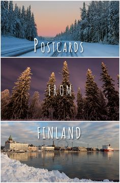 A collection of our personally created postcards from a month long trip in Finland. World Travel Guide, Europe Travel Guide, Beautiful World, Beautiful Places, Beautiful Pictures, Oh The Places You'll Go, Great Places, Travel Around The World, Around The Worlds