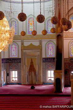 The Kocatepe Mosque in Ankara,   Turkey