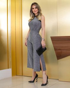 Shop Glitter Halter Slit Leg Jumpsuit – Discover sexy women fashion at BoutiquefeelStyle:Fashion Pattern Type:Glitter Polyester Neckline:Halter Sleeve Style:Sleeveless Length:Regular Occasion:Workwear Package Note: There might be difference accordi Jumpsuit Formal Wedding, Formal Jumpsuit, Casual Jumpsuit, White Jumpsuit, Cream Jumpsuit, White Romper, Jumpsuit Outfit, Romper Suit, Denim Romper