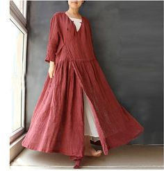 Hey, I found this really awesome Etsy listing at https://www.etsy.com/listing/246430135/retro-casual-autumn-linen-womens-long