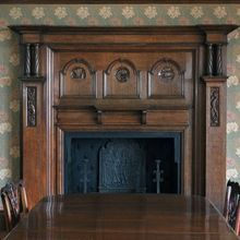 Restoration of an original Arts & Crafts overmantle, following fire and water damage
