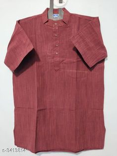 Checkout this latest Kurtas Product Name: *Elegant Khadi Cotton Men's Kurta* Fabric: Khadi Cotton Sleeves: Sleeves Are Included Size: 38 40 42 44 (Refer Size Chart) Length: (Refer Size Chart) Type: Stitched Description: It Has 1 Piece Of Men's Kurta  Pattern: Solid Country of Origin: India Easy Returns Available In Case Of Any Issue   Catalog Rating: ★4.3 (373)  Catalog Name: Divine Elegant Khadi Cotton Men'S Kurtas Vol 4 CatalogID_473977 C66-SC1200 Code: 772-3413814-885