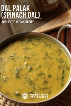 Dal palak is one of the popular Indian lentil recipes as it combines the goodness of the pigeon pea lentils (known as arhar dal or tuvar dal in Hindi) as well as spinach (called as palak in Hindi). New Recipes For Dinner, Lunch Recipes, Vegetarian Recipes, Cooking Recipes, Dal Palak Recipe, Dal Recipe, Lentil Recipes Indian, Indian Food Recipes, Veg Recipes Of India