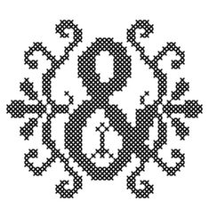 Modern Cross Stitch Letter Pattern by oneofakindbabydesign on Etsy