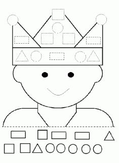 Geometrik Çizgi Çalışma Sayfası Preschool Worksheets, Preschool Learning, Preschool Activities, Shapes For Kids, Math For Kids, Kindergarten, Teaching Shapes, Self Contained Classroom, Shape Books
