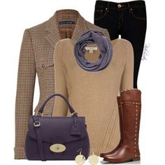 Oooo. Not crazy about the jacket, but LOVE the sweater/scarf! Fall outfit