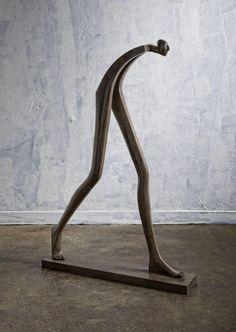 Isabel Miramontes Contemporary Figurative Sculpture: Big Step 2016 What is Art ? Sculpture Metal, Abstract Sculpture, Sculpture Garden, Contemporary Sculpture, Contemporary Decor, Metal Art, Wood Art, Sculptures Céramiques, Sculpture Ideas