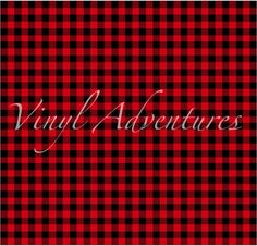 Red Tartan Plaid Craft Vinyl Sheet Htv Or Adhesive Vinyl