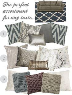 FH Decor Idea: Couch Pillows - Fashionable Hostess