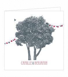 Faire Part - Happy Champêtre - Papier and Co pour Ruban Collectif - Faire-part mariage originaux