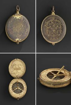 - An Elizabethan gilded pocket sundial by Augustine Ryther.
