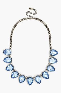Pretty and sparkly for mom! Treating her with this blue BaubleBar necklace for Mother's Day.