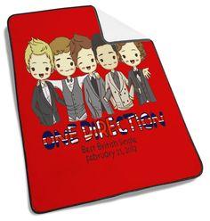 1D One Direction Papel de Parede Blanket