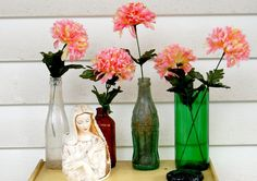 Glass Bottle Craft: 80 Awesome Tips and Photos - Decoration, Architecture, Construction, Furniture and decoration, Home Deco Cutting Glass Bottles, Glass Bottle Crafts, Decoupage, Glass Vase, Awesome, Wedding, Show, Recycling, Construction