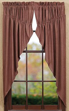 1000 images about prim curtains on pinterest primitive curtains curtains and swag curtains. Black Bedroom Furniture Sets. Home Design Ideas