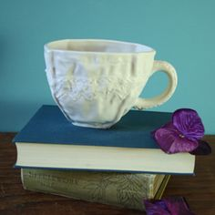 Lace inspired cup
