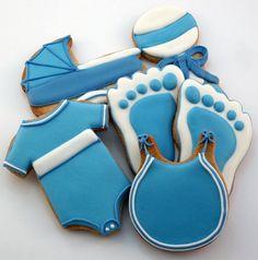 FAVORS Decorated Cookies  Baby Shower  Baby Boy by katieduran, $35.00 cookies