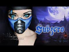 SubZero - Mortal Kombat Makeup Tutorial   OMG THIS GIRL IS AMAZING!!!!