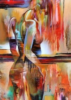 Abstract Painters, Abstract Art, Abstract Painting Canvas, Acrylic Paintings, Figure Painting, Erotic Art, Figurative Art, Art Oil, Painting Prints