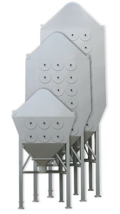 CARTRIDGE DUST COLLECTOR SAX - The Sax dust collector is a cartridge dust collector with a specially-designed intake. The intake is constructed according to the DOWN-STREAM principle. This means that the intake is mounted on the top or on the side of the dust collector. Dust Collector, Construction, Top, Building