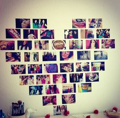 Cute way to decorate your room:)