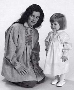 """#221 English Smock Children's 2-12; Misses 6-20; Men's 30-42. $16.95 A truly universal garment worn by shepherds, butchers, bakers, farmers, and other rural laborers in Old England. Today, smocks are favored by fashionable people everywhere and made out of every fabric imaginable. Long and short versions can be hand-smocked or """"mock-smocked"""" by machine with elastic"""