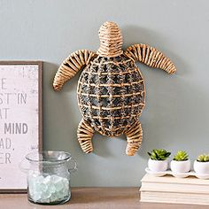 Add a nature-inspired touch to your coastal decor with our Natural Woven Sea Turtle Plaque! Crafted of water hyacinth, it refreshes your coastal wall decor. Beach Canvas Art, Beach Art, Canvas Art Prints, Framed Art Prints, Beach Room, Coastal Wall Decor, Wall Art Decor, Coastal Living, Wall Decorations