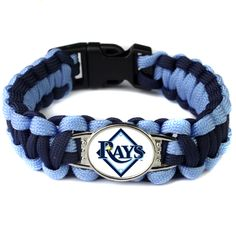 2017 Hot New MLB Baseball Fans Tampa Bay Rays Charm Paracord Survival Bracelet Friendship Outdoor Camping Bracelet 6pcs/lot