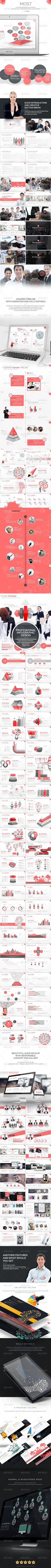 Most - The Most PowerPoint Template  #red #simple • Click here to download ! http://graphicriver.net/item/most-the-most-powerpoint-template/8197738?s_rank=1163&ref=pxcr