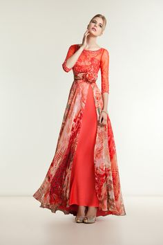 Evening Dresses, Long and short dresses & evening gowns by Demetrios Coral Maxi Dresses, Gala Dresses, Blue Wedding Dresses, Floral Maxi Dress, Chiffon Dress, Homecoming Dresses, Elegant Dresses, Casual Dresses For Women, Beautiful Dresses