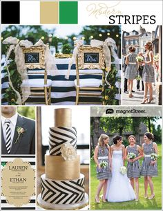 Modern striped wedding invitations and inspiration. Get a free sample (in your wedding colors).