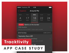 """Check out new work on my @Behance portfolio: """"Tracktivity"""" http://be.net/gallery/31881269/Tracktivity"""