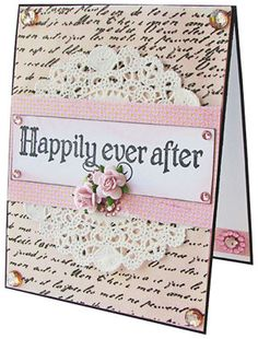 Michaels.com Wedding Department: Happily Ever After Card Create your handmade Happily Ever After Card in minutes! Why give store-bought cards when you can easily make your own? Tell your loved ones how much you care in your own, special way.