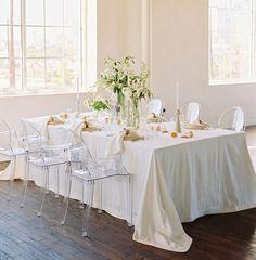 Minimal + Organic White Wedding Inspiration
