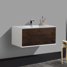 40 best wall mounted bathroom vanities images in 2019 wall mount rh pinterest com