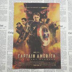 Captain America Civil War Retro Poster - Vintage Movie posters - Superhero Universe