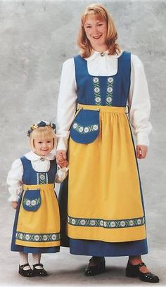 Swedish National Costume dress www.giftchaletauburn.com